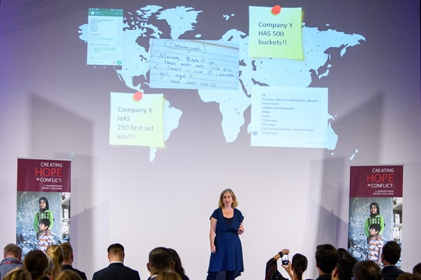 Natasha Freidus, Co-founder and CEO of NeedsList at the 'Creating Hope in Conflict'- A Humanitarian Grand Challenge